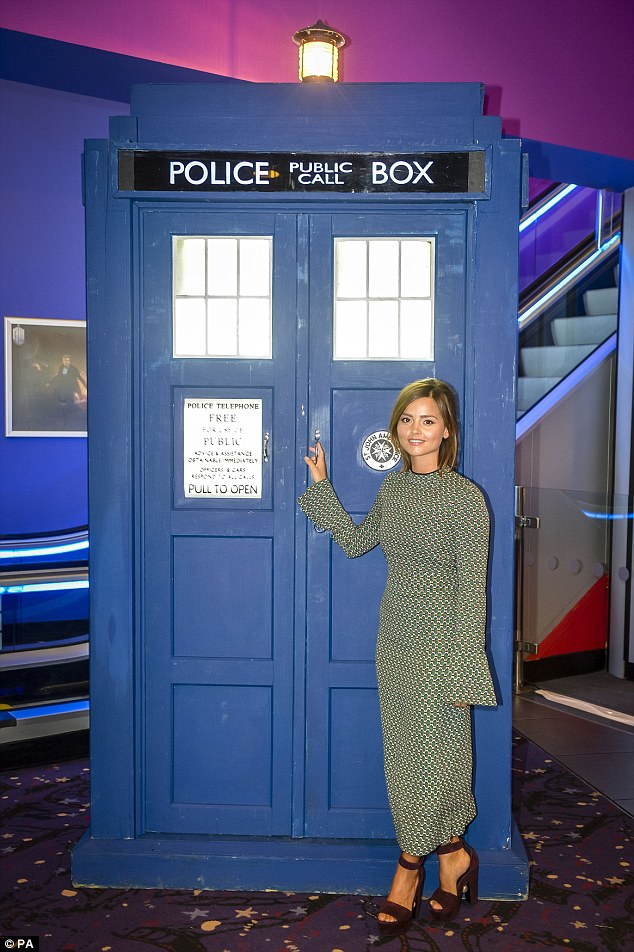 She's back! Jenna Coleman hit Cardiff's Cineworld with her leading man Peter Capaldi, and the famous TARDIS for a screening of the ninth series of Doctor Who on Thursday
