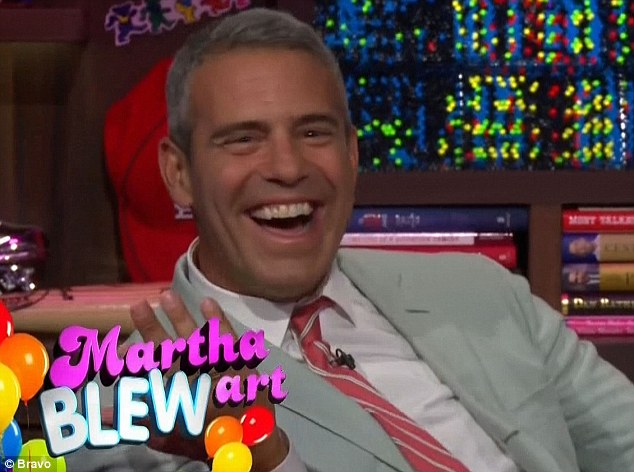 Tickling his fancy: Andy loved listening to Martha's high-pitched helium voice