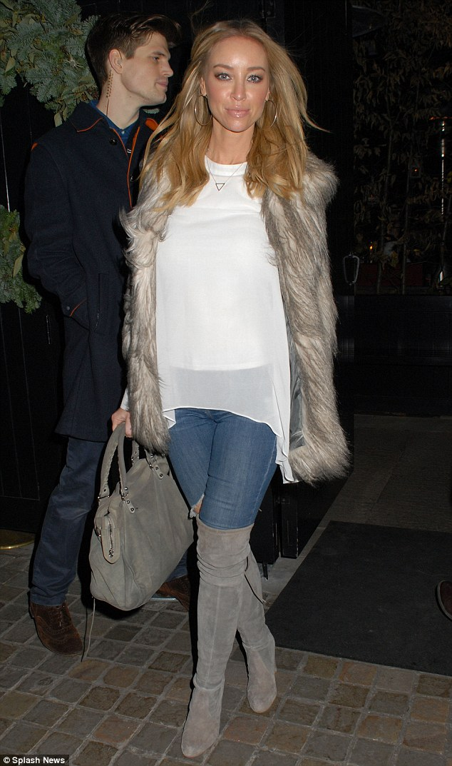 The place to be: Lauren later headed off to London's Chiltern Firehouse to mingle with the A-list