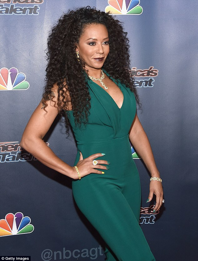 Buxom:Melanie Brown  showed off her curves at the America's Got Talent party on Wednesday night in NYC