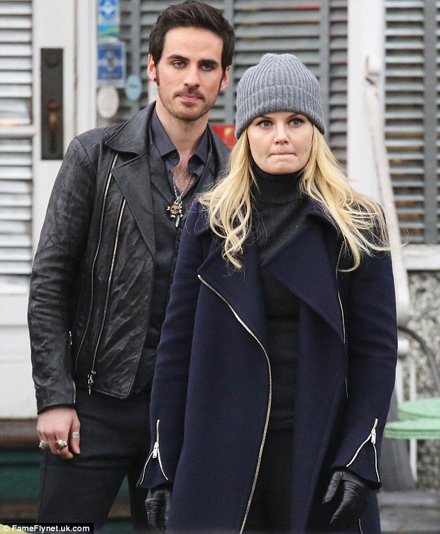 He's got a hook on her!: She was also seen filming a dialogue scene with 33-year-old co-starColin O'Donoghue, who plays Captain Killian 'Hook' Jones