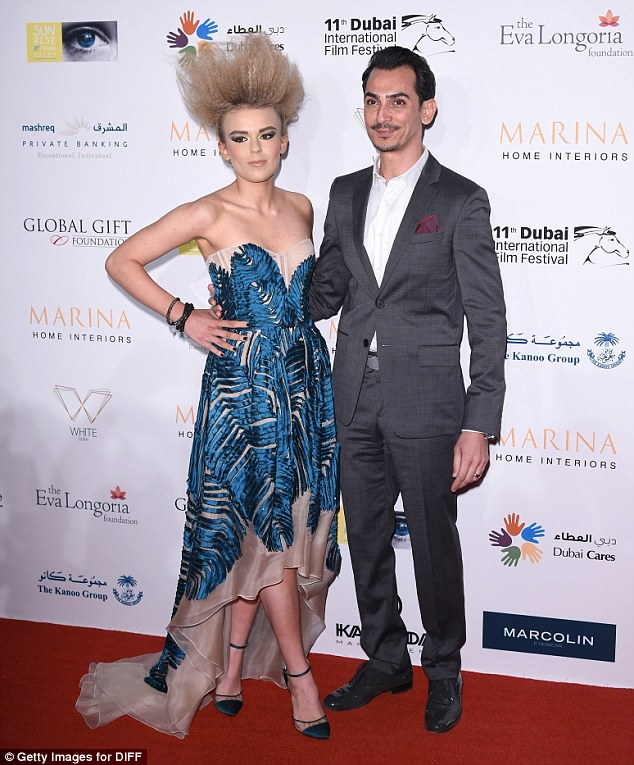 Hair-raising! Scottish singer Tallia Storm posed on the red carpet with Rami Al Ali