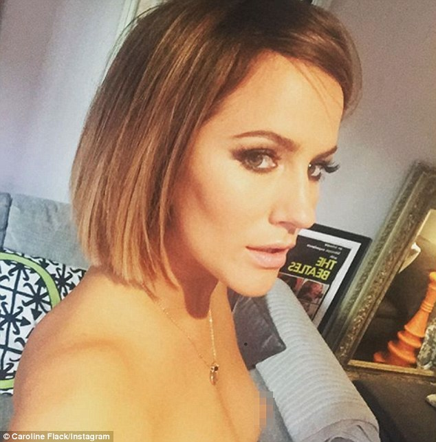 Awkward! Standing topless as she posed for a selfie, Caroline forgot to crop the image and accidentally shared her bare nipple with her 600,000 Instagram followers