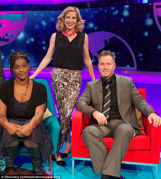 Katie Hopkins, pictured with Ava Vidal and James Jordan, on the latest episode of her TLC show in which she says mothers who have their babies via c-section are not 'strong or powerful'