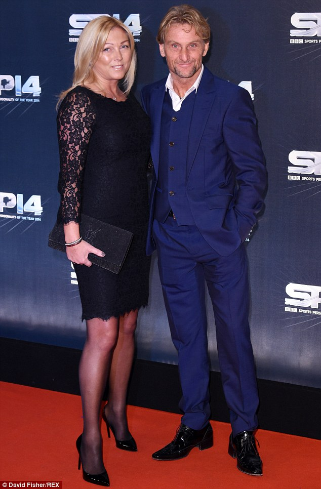 Scrubbing up well: Carl 'Foggy' Fogarty and his wife Michaela attended the BBC Sports Personality of the Year at Glasgow's SSE Hyrdo on Sunday night