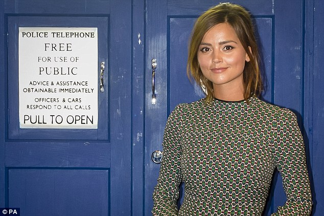 Fashion fan: Jenna has revealed that she sees Clara's style as 'school teacher who rides a motor cycle, in a retro 60s style but also sci-fi'