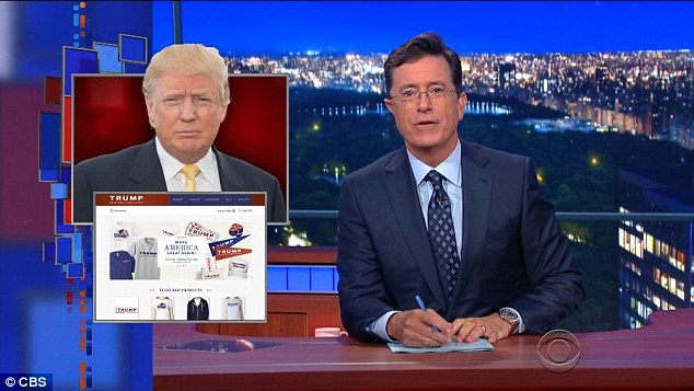 That old trick: The funnyman made sure he got some cheap laughs by making fun of Donald Trump