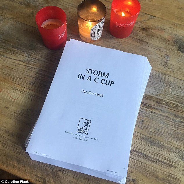 The irony: Caroline is currently preparing for the release of her upcoming autobiography, Storm in a C Cup
