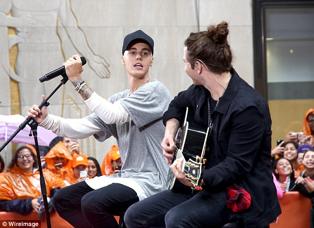 Showed them: Justin more than redeemed himself with an acoustic performance for his original hit Baby