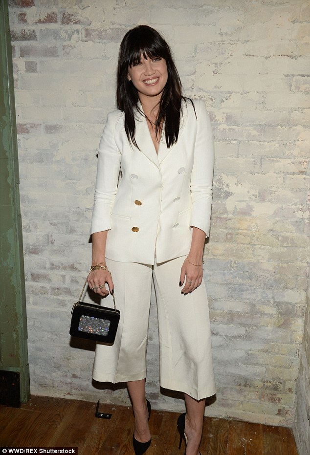 Sharp-suited look: Daisy Lowe swapped the 'big smoke' for Manhattan when she attended a party for New York Fashion Week on Wednesday evening