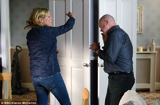 That's going to leave a bruise! EastEnders' Jane Beale whacks Phil Mitchell across the face in epic showdown