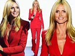 NEW YORK, NY - SEPTEMBER 11:  Model Heidi Klum attends Project Runway fashion show during Spring 2016 New York Fashion Week: The Shows at The Arc, Skylight at Moynihan Station on September 11, 2015 in New York City.  (Photo by Jamie McCarthy/WireImage)