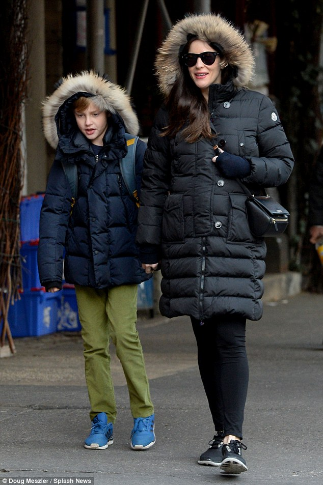 Growing up fast! The pregnant 37-year-old star was seen taking her 10-year-old child to school on December 4 in New York City