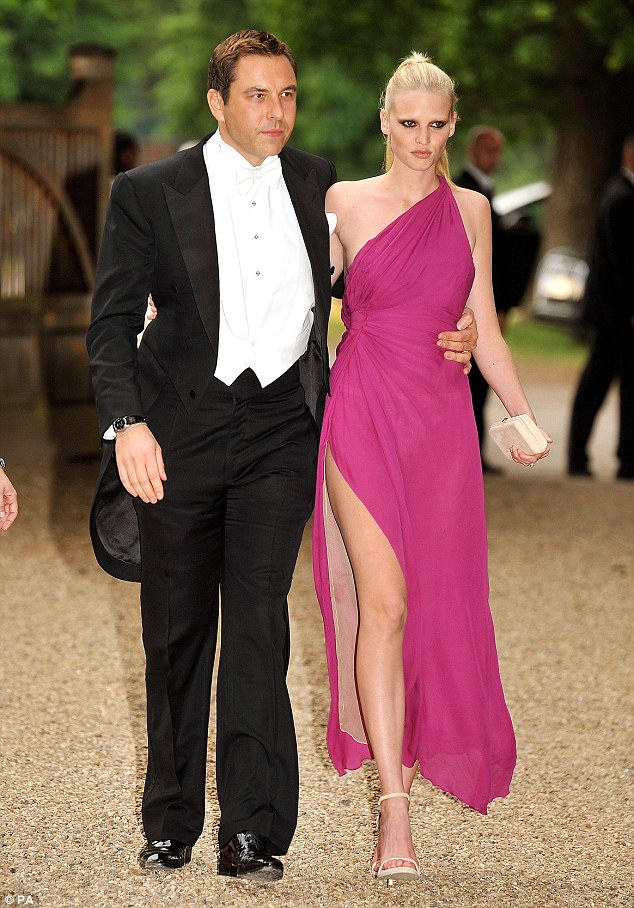 Social couple: The last time the pair (pictured above at a charity gala in 2010) were seen together in public was last year, when they attended Elton John and David Furnish's wedding