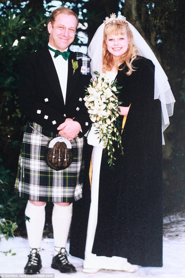 Stanley and Jacquie on their wedding day in 1996. They were married for 17 years before divorcing in 2013
