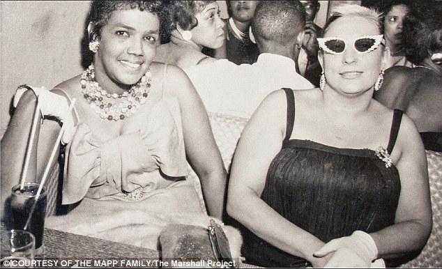 'A force to be reckoned with': Mapp's great niece Carolyn Mapp said Dollree, left, was a strong woman