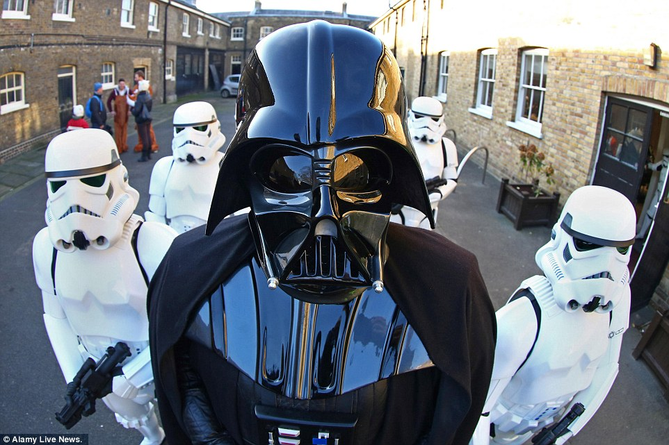 This year was a sci-fi theme, with several people turning up in Star Wars outfits. Darth Vader and the Stormtroopers led the opening ceremony