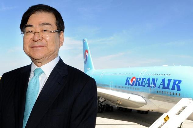 """Korean Air CEO Cho Yang-Ho, pictured here on May 24, 2011, has apologised for his daughter's """"foolish act"""""""