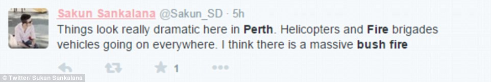 Concerned Twitter users took to their accounts to talk about the bush fires