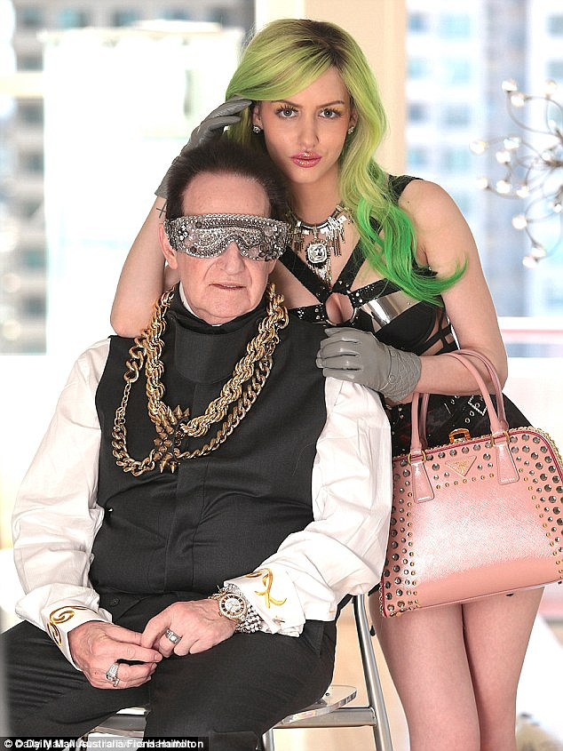 Speaking to Daily Mail Australia, Mr Edelsten (pictured here with his fiancée Gabi Grecko) said the idea he owed ATO that much money was 'not possible and fictitious'