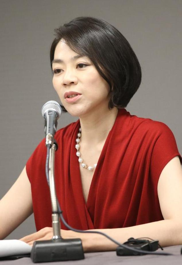 This picture taken on September 3, 2014 shows Cho Hyun-Ah, daughter of Korean Air CEO and executive vice president of the family-run firm, speaking during a ...