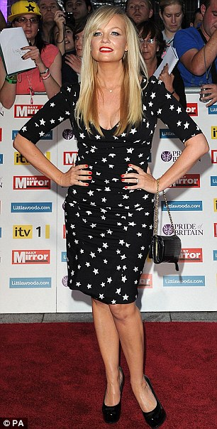Spice up your life: Heart FM DJ Emma Bunton had earlier tweeted her excitement at seeing her 'gorgeous' ex-Spice Girl bandmate Melanie Chisholm