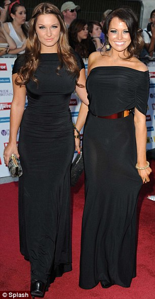 Going West: The Only Way Is Essex stars Sam Faiers and Jessica Wright both opted for slinky black gowns, while their former co-star Amy Childs wore an Ultimo Couture dress