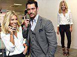 11.09.15 bgc Charity Day at BGC Churchill Wharf Molly King and David Gandy