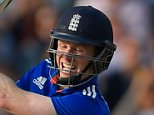 LEEDS, ENGLAND - SEPTEMBER 11:  England batsman Eoin Morgan hits John Hastings for 6 during the 4th Royal London One-Day International match between England and Australia at Headingley on September 11, 2015 in Leeds, England.  (Photo by Stu Forster/Getty Images)