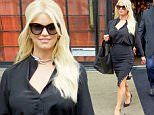 September 10, 2015: Jessica Simpson is seen leaving her hotel in downtown New York City this morning.\nMandatory Credit: Alberto Reyes/INFphoto.com Ref: infusny-261