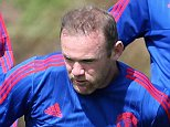 MANCHESTER, ENGLAND - AUGUST 05:  (EXCLUSIVE COVERAGE) Wayne Rooney of Manchester United in action during a first team training session at Aon Training Complex on August 5, 2015 in Manchester, England.  (Photo by John Peters/Man Utd via Getty Images)