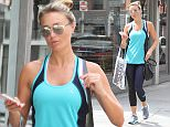 Alex Gerrard wearing coordinated sportswear or turquoise and dark blue, goes shopping in Beverly Hills Featuring: Alex Gerrard Where: Los Angeles, California, United States When: 10 Sep 2015 Credit: WENN.com