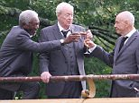 142186, Morgan Freeman, Michael Caine, Joey King, Ann-Margret and Alan Arkin seen filming a scene of their latest movie 'Going In Style' at the Prospect Park Boathouse in Brooklyn, NYC. New York, New York - Wednesday September 9, 2015. Photograph: LGjr-RG, © PacificCoastNews. Los Angeles Office: +1 310.822.0419 sales@pacificcoastnews.com FEE MUST BE AGREED PRIOR TO USAGE