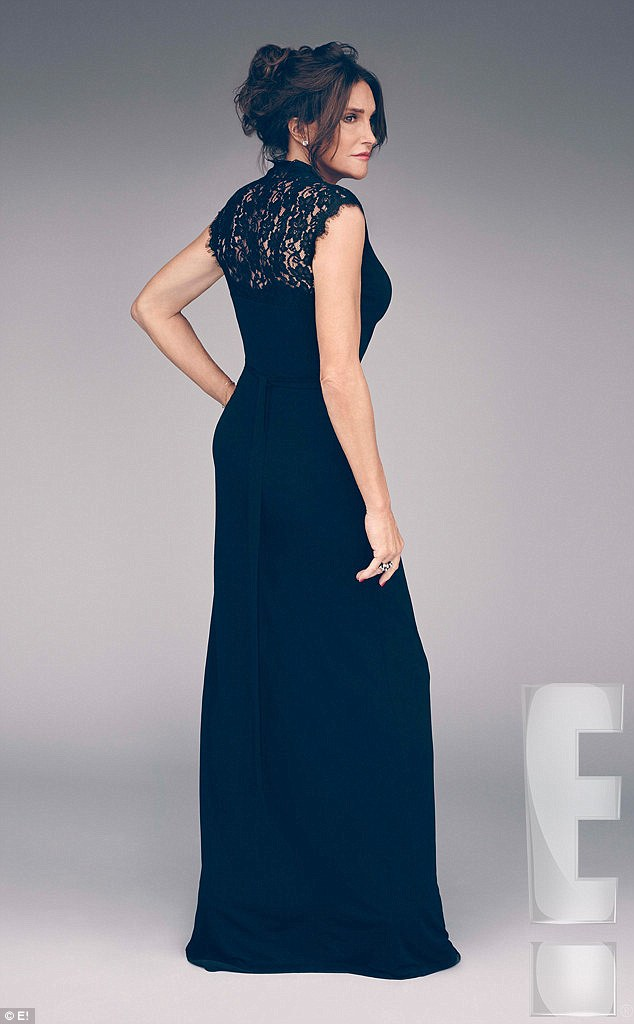 Inspiration? Caitlyn may have had the navy gown she was wearing in pictures to promote her new E! show I Am Cait when she chose the color