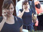Brentwood, CA - Busy bee Jennifer Garner appears to be all over the place as she takes care of a few errands while out in Brentwood.  The pretty brunette, who has stopped wearing her wedding ring as her ongoing split with Ben Affleck continues, was decked out in gym attire as she juggles a cup of coffee while chatting on her cell phone.  It appears that life is moving forward for the actress, who keeps her head up despite her marriage troubles. \nAKM-GSI        September 11, 2015\nTo License These Photos, Please Contact :\nSteve Ginsburg\n(310) 505-8447\n(323) 423-9397\nsteve@akmgsi.com\nsales@akmgsi.com\nor\nMaria Buda\n(917) 242-1505\nmbuda@akmgsi.com\nginsburgspalyinc@gmail.com