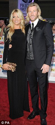 Night away from the dance studio: Strictly contestant Harry Judd and partner Aliona Vilani, Robbie Savage and his wife Sarah and Jason Donovan and his daughter Jemma