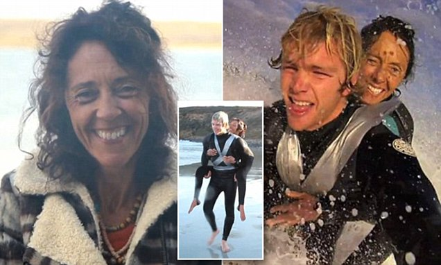 Pascale Honore who surfs duct-taped to a friend has died aged 52