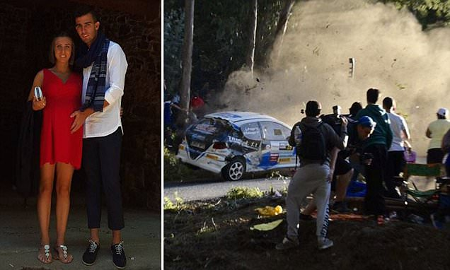 Pregnant Spanish racing crash victim Ana Cayazzo killed alongside Miguel Caridad