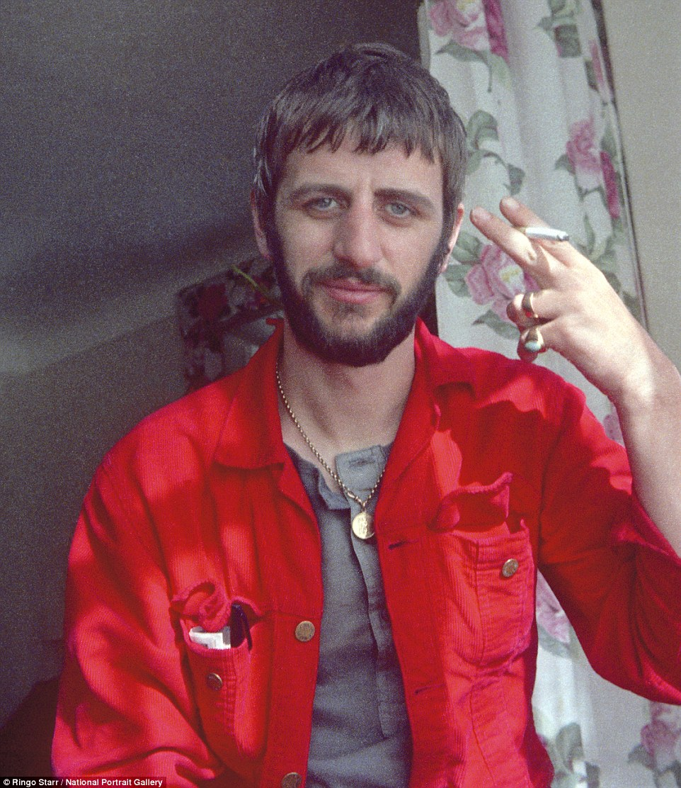 Self-portrait: A snap of Ringo Starr, taken by the man himself, at home enjoying a cigarette in 1970