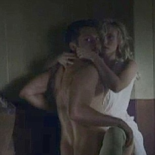 Daring: Batt is naked for a sex scene while his co-star remains clothed