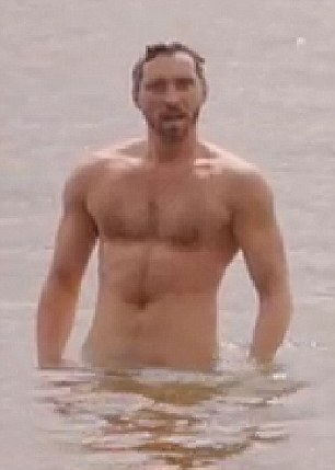 Toned: The Go-Between's Ben Batt bares his torso in several scenes for the costume drama including one in which he emerges from a lake naked