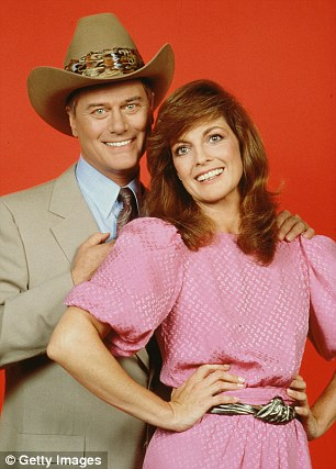 in Dallas with Larry Hagman, 1981