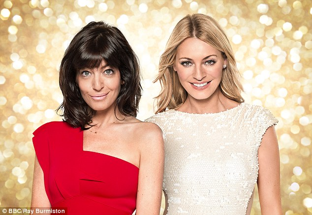 The 43-year-old presenter has revealed how she gets on 'brilliantly' with Strictly co-host Tess Daly, pictured together on the show