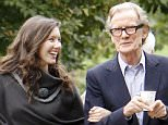 LONDON, ENGLAND - SEPTEMBER 08:  (EXCLUSIVE COVERAGE)(MINIMUM PRINT USAGE FEE £150 PER IMAGE)(MINIMUM ONLINE/WEB USAGE £150 FOR SET) British legend Bill Nighy seen taking a stroll with a mystery women on September 8, 2015 in London, England.  (Photo by Crowder/Legge/GC Images)
