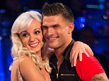 Embargoed to 2035 Saturday September 5 For use in UK, Ireland or Benelux countries only  Undated BBC handout photo of (left to right) host Tess Daly, Helen George and her dance partner Aljaz Skorjanec during recording for the launch for this year's series of Strictly Come Dancing on BBC1. PRESS ASSOCIATION Photo. Issue date: Saturday September 5, 2015. See PA SHOWBIZ Strictly stories. Photo credit should read: Guy Levy/BBC/PA Wire NOTE TO EDITORS: Not for use more than 21 days after issue. You may use this picture without charge only for the purpose of publicising or reporting on current BBC programming, personnel or other BBC output or activity within 21 days of issue. Any use after that time MUST be cleared through BBC Picture Publicity. Please credit the image to the BBC and any named photographer or independent programme maker, as described in the caption.