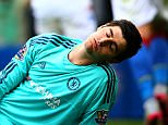 LONDON, ENGLAND - AUGUST 29: Thibaut Courtois of Chelsea reacts after conceding Crystal Palace's first goal during the Barclays Premier League match between Chelsea and Crystal Palace at Stamford Bridge on August 29, 2015 in London, England.  (Photo by Paul Gilham/Getty Images)