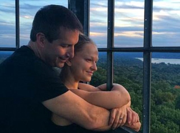 Investigators maintain Graswald killed her fiance, Vincent Viafore, 46 (pictured with her), because she stood to gain $250,000 in insurance payouts and their relationship had soured
