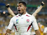 File photo dated 22-11-2003 of Jason Robinson celebrates his try for England against Australia during the Rugby World Cup Final at the Telstra Stadium, Sydney, Australia. PRESS ASSOCIATION Photo. Issue date: Wednesday September 9, 2015. World Cup winner Jason Robinson believes Sam Burgess will have every intention of making England's starting line-up when the tournament starts next week. See PA story RUGBYU England Robinson. Photo credit should read David Davies/PA Wire.