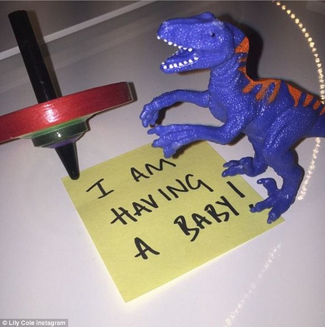 Big news: Model Lily  announced that she's expecting her first child with boyfriend Kwame Ferreira with a cute dinosaur picture