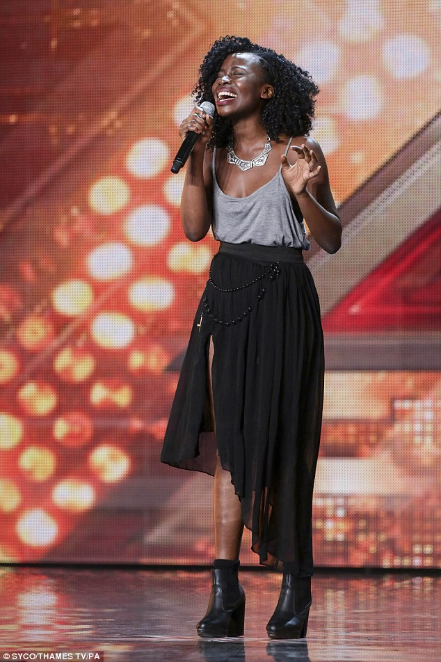 Singing her heart out: Sharon Rose seemed to belt out her tune in the first audition